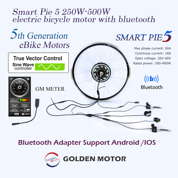 Smart Pie 5 250W 350W electric bike motor with bluetooth, built-in programmable controller
