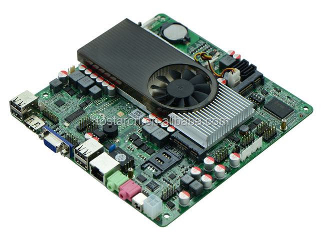 Slim Mini-ITX Motherboard Atom D2700 with NVIDIA ION3 GT520 for IPC,HTPC