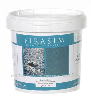 Firasim interior face decorative final coat paint enriched with metallic pigments and special filling effects 1 lt