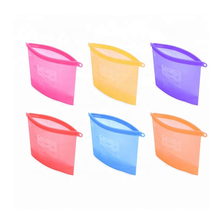 Food Grade Reusable Silicone Food Storage Bag