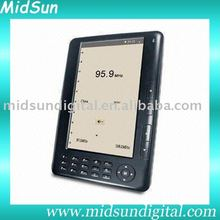 7 inch color mid android e-book with WIFI reader FM function and 3G optional