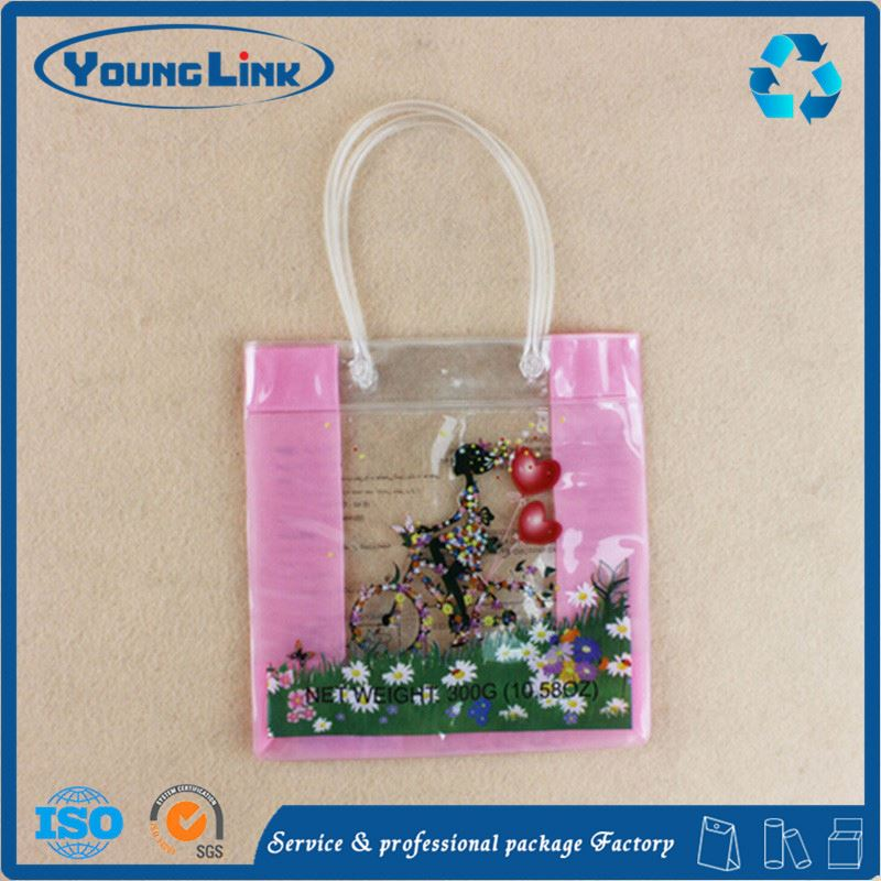 Customized cosmetic bags & cases / clear makeup bag/ plastic toiletry bag with slider