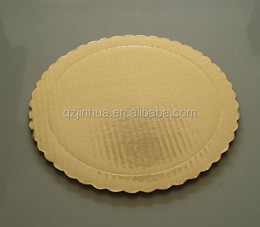 Wholesale Round Silver Gold Foil Cake Boards/weeding cake base