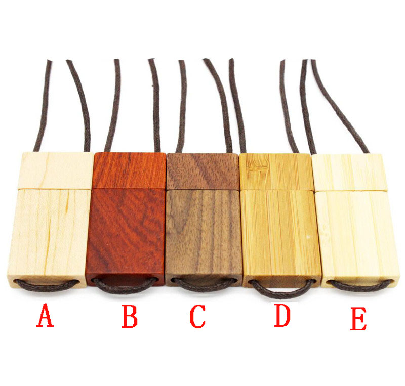 shenzhen manufacture recyclable 4gb lanyard wood usb flash drive 2.0 memory stick