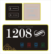 High quality Hotel/house/hospital door plate Electronic Doorplate Touch Switch room number