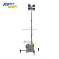 LED Lamp Trailer Mobile Light Tower With Generator