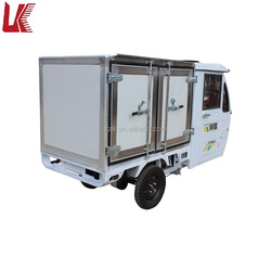 three wheel motorcycle closed driven cabin/delivery cargo electric truck with freezer/small electric trike with top quality