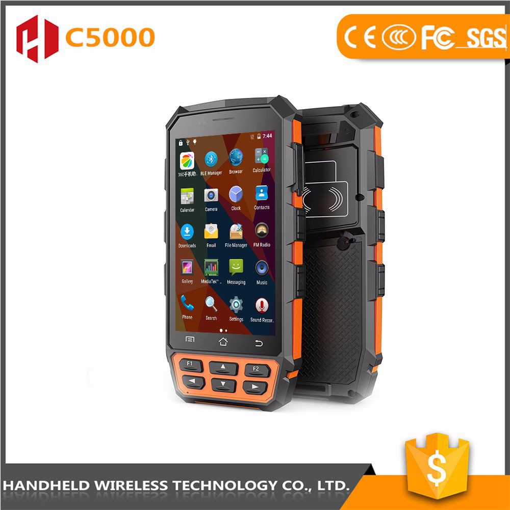 Latest new design wireless handheld C5000 rugged ip65 fingerprint scanners