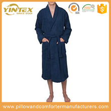 Hotel Bathroom sets kimono or other collar style custom waffle cotton terry bathrobe for hotel