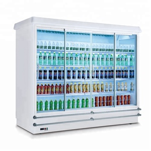 commercial upright beverage cooler / supermarket multi-deck open chiller