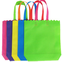 2017 New Design 10 Different Colors Print your logo Non Woven Shopping Bags Recycle Non Woven bags