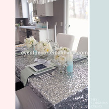 Silver glitter sequined table cloths / customized size table cover for wedding decoration