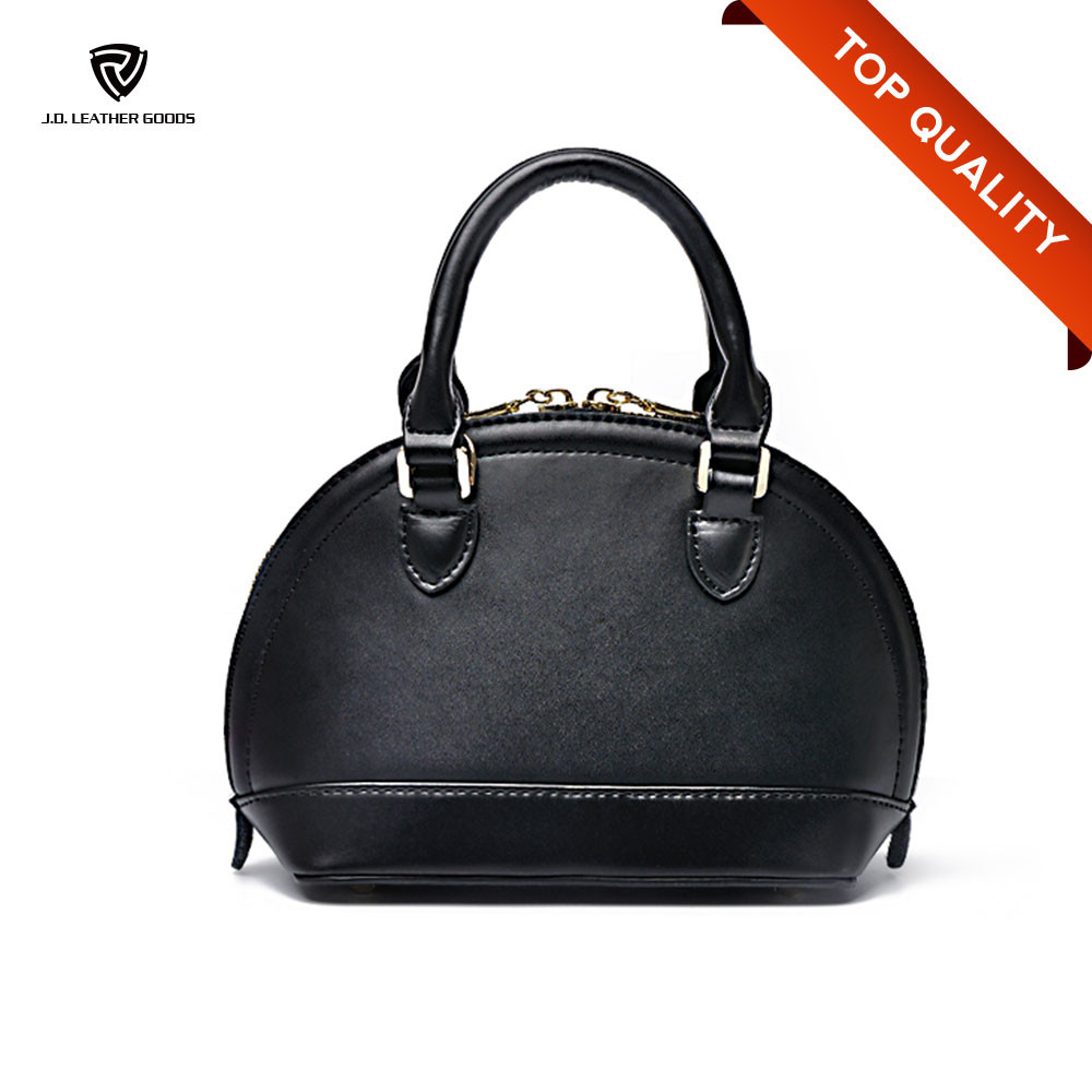 2016 New Fashion Ladies Hard Leather Shell Collecting Bag/Coconut Shell Bag