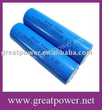 LiFePO4 battery IFR18650 1300mAH 3.2V