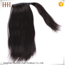Fast shipping virgin natural color remy brazilian hair drawstring ponytail