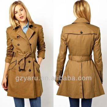 2014 fashion design women trench coat women ladies coats
