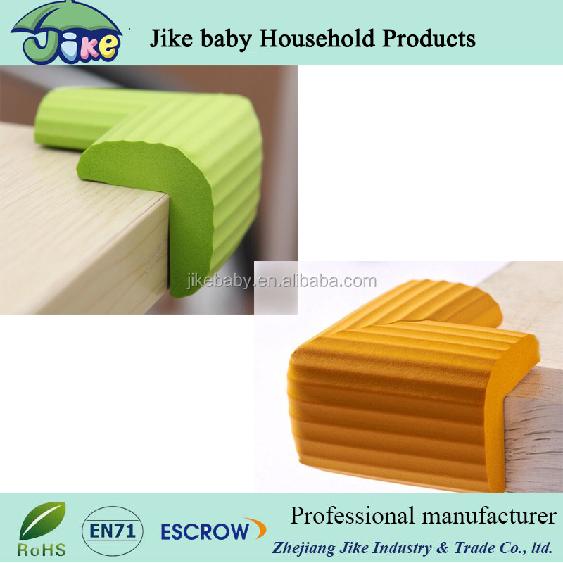 L shape stripe Home Toddler Safty Protector Table Corner Guard NBR Foamed Material