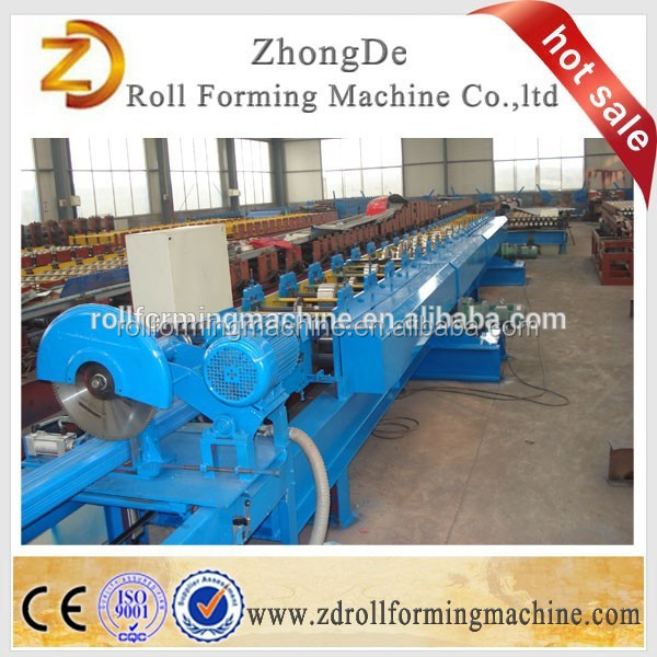 Customized clip locked color coated metal roofing sheet roll forming machine gutter machine making