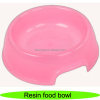 Hot selling pet resin food bowl, feeder pet puppy, silicone dog bowl