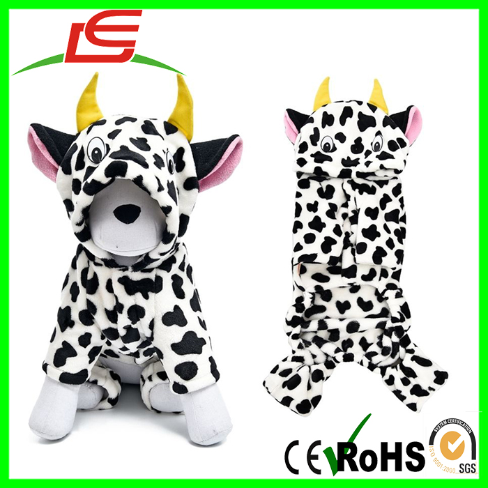 Dairy Cow Clothes Costume Milk Cow Coat Pet Dog Winter Warm Clothes