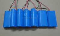 7.4v li ion battery pack 2000mah 18650 lithium