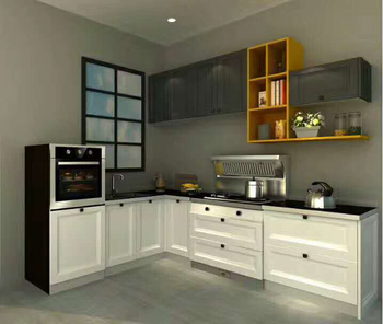 Modern Contemporary Solid American beech Cherry Wood Flat Panel Kitchen cabinet