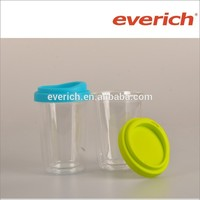 Everich 2016 230ml Clear Mini Coffee Glass Tumbler With Silicone Lid