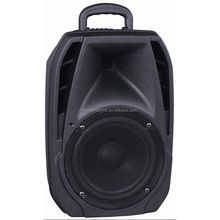 "hot sell 15"" Portable Battery-Powered Bluetooth Speaker, trolley speaker with USB/SD/FM/BT"