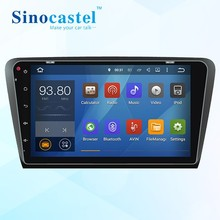 10.1 inch touch screen android 5.1.1 car dvd gps for skoda octavia 2015 year with bluetooth built in gps