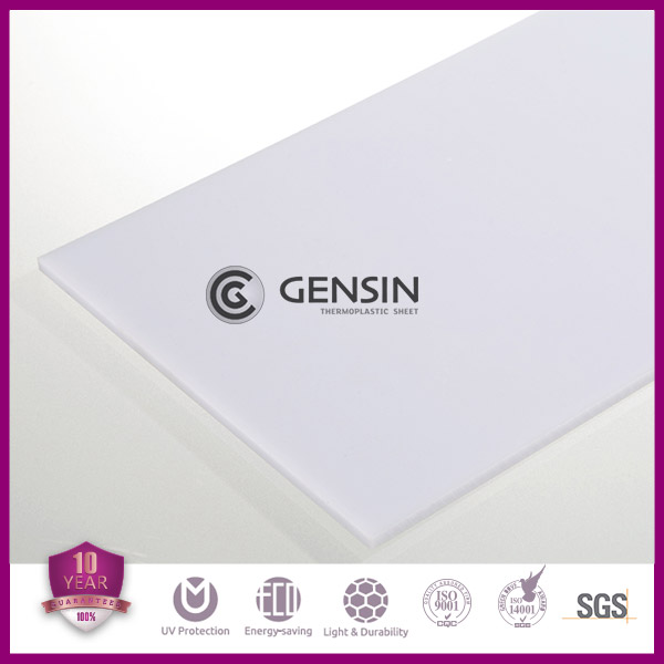 Gensin 1mm Solid Polycarbonate Sheet 1220mm*2440mm Milky White Anti-UV Coating