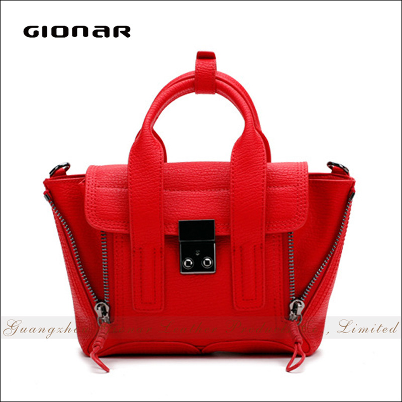 Fashion Women Extendable Red Leather Buffalo Handbags Bueno Handbag