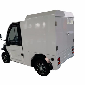2 Seater Chinese Mini Electric Car With Enclosed Cargo Box For Sale