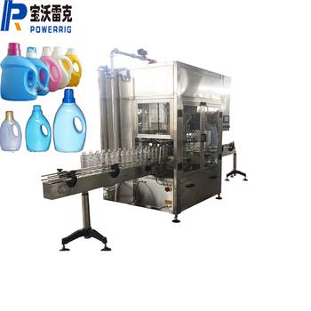 Piston chemical liquid detergent filling machine for detergent filling