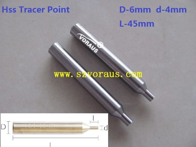 HSS Tracer point for Keyline-Bianchi 994 laser D-6mm d-4mm L-45mm