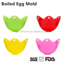 Microwave Custom Color Silicone Rubber Egg Poacher Cup