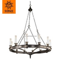 New fashion style simple wrought iron chandelier for chapel