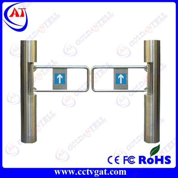 Automatic swing gate system round pillar supermarket entrance manual turnstile smart card door single passage