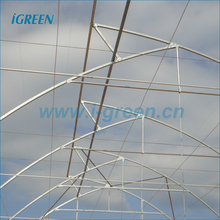 Saw tooth roof vent multi span plastic film agricultural greenhouse