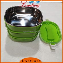stackable stainless steel korean lunch box with spoon