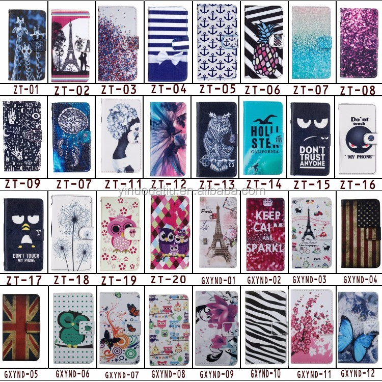 Low price mobile phone case cover shell for print Sony z5 with wallet holder