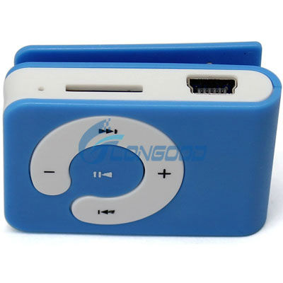 Fashion and Personalized Mini Clip MP3 Player Support 1-8GB Micro SD/TF Card