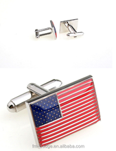 Flag cufflinks UK USA all countries cufflinks Low price American USA Flag Logo Custom Souvenir Metal Cufflinks