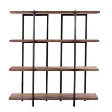 Modest metal book shelf flower shop wood shelf new design display shelf for sale