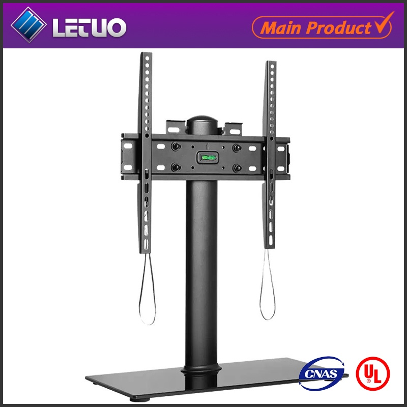 VESA Mount LCD Glass TV Stand TV Base for 360 degree rotating tv stand modern