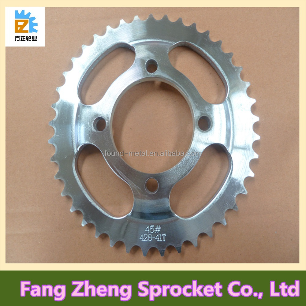 OEM Manufacturer of 45# Steel Motorcycle Big and Small Sprocket