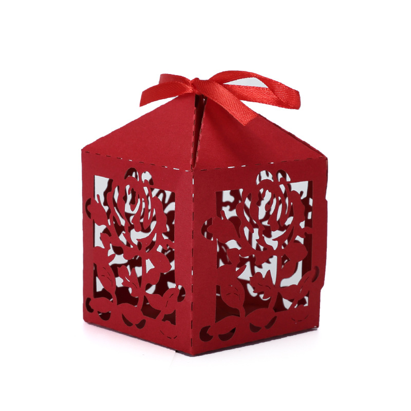 Wedding Favor Red Folding Paper Candy Box Wholesale On Line Yiwu Supplier