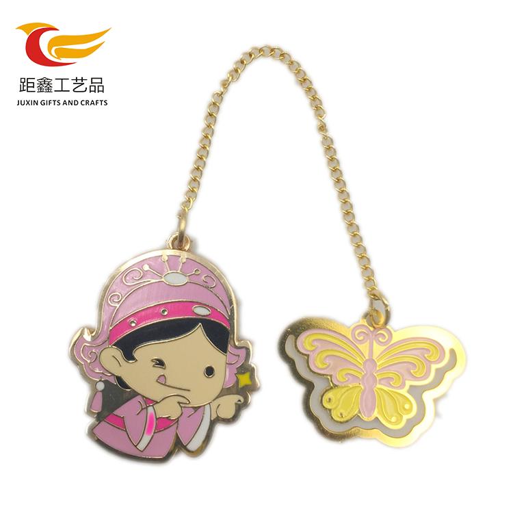 중국 supplier custom logo metal bronze 북마크 대 한 designs kids