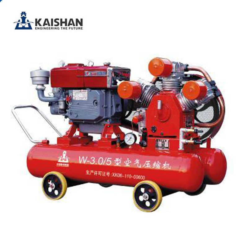 kaishan brand <strong>W</strong>-1.8/5-D small mining diesel piston air compressor with air tank