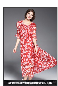 Traditional Thai-style thailand wholesale clothing Women chiffon long flared dress women beach casual maxi dress