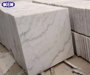 Polished grey veins guangxi white low price marble tile